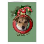 Navidad - cubierta los pasillos - Jack Russell Felicitaciones
