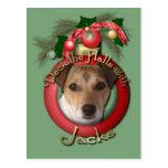 Navidad - cubierta los pasillos - Jack Russell Postal