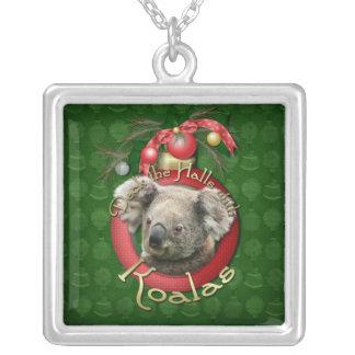 Navidad - cubierta los pasillos - koalas colgante cuadrado