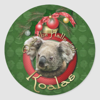 Navidad - cubierta los pasillos - koalas pegatina