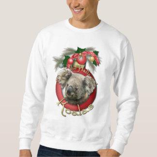Navidad - cubierta los pasillos - koalas sudadera