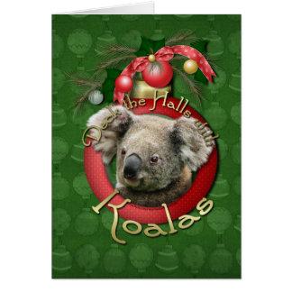 Navidad - cubierta los pasillos - koalas felicitación