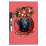 Navidad - cubierta los pasillos - Labrador - negro Tablero Blanco