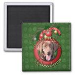Navidad - cubierta los pasillos - Labradors - choc Iman Para Frigorífico