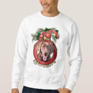 Navidad - cubierta los pasillos - Labradors - Sudadera