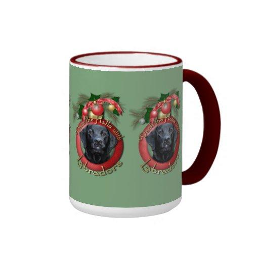 Navidad - cubierta los pasillos - Labradors - Taza A Dos Colores