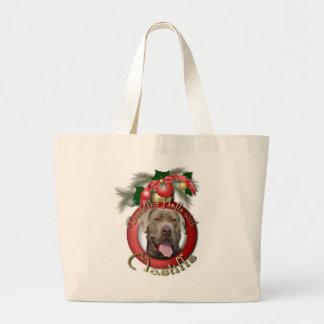 Navidad - cubierta los pasillos - mastines - fisgó bolsa