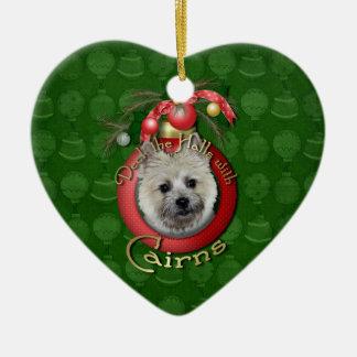 Navidad - cubierta los pasillos - mojones - oso de ornatos