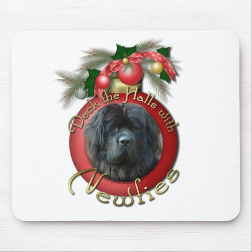 Navidad - cubierta los pasillos - Newfie Tapetes De Ratón