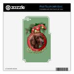 Navidad - cubierta los pasillos - organismos calcomanía para iPod touch 4G