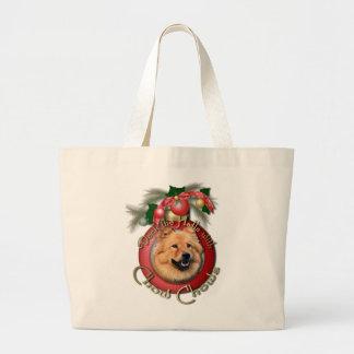 Navidad - cubierta los pasillos - perros chinos - bolsa