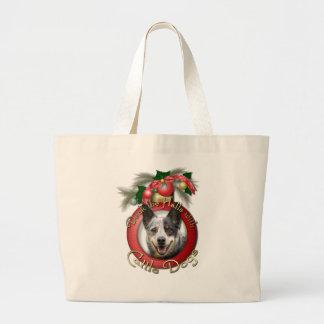 Navidad - cubierta los pasillos - perros del bolsa de mano