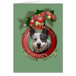 Navidad - cubierta los pasillos - perros del tarjeton
