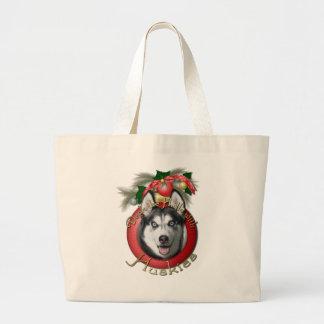 Navidad - cubierta los pasillos - perros esquimale bolsa