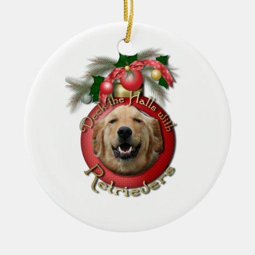 Navidad - cubierta los pasillos - perros perdiguer adorno de reyes