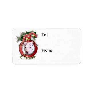 Navidad - cubierta los pasillos - Pitties - Petey Etiqueta De Dirección