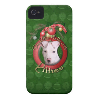 Navidad - cubierta los pasillos - Pitties - Petey iPhone 4 Case-Mate Coberturas