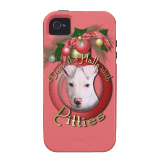 Navidad - cubierta los pasillos - Pitties - Petey iPhone 4/4S Carcasas