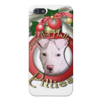 Navidad - cubierta los pasillos - Pitties - Petey iPhone 5 Protectores