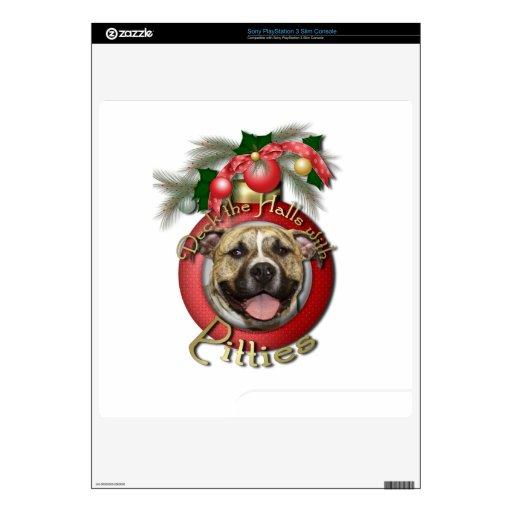 Navidad - cubierta los pasillos - Pitties - Tigger Skins Para elPS3 Slim