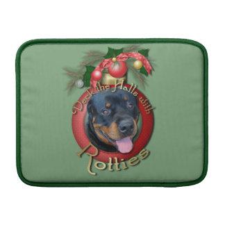 Navidad - cubierta los pasillos - Rotties - Harley Funda Para Macbook Air