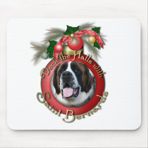 Navidad - cubierta los pasillos - santo Bernards - Alfombrilla De Raton
