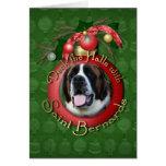 Navidad - cubierta los pasillos - santo Bernards - Felicitacion