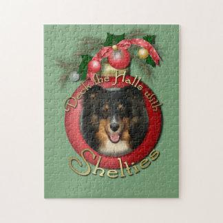 Navidad - cubierta los pasillos - Sheltie - Chani Rompecabezas