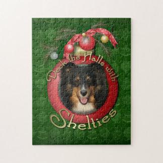 Navidad - cubierta los pasillos - Sheltie - Chani Puzzle Con Fotos