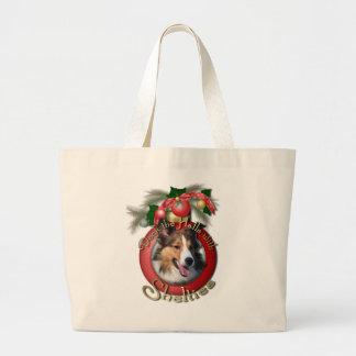 Navidad - cubierta los pasillos - Shelties Bolsa