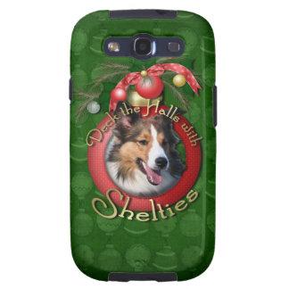 Navidad - cubierta los pasillos - Shelties Galaxy SIII Protectores