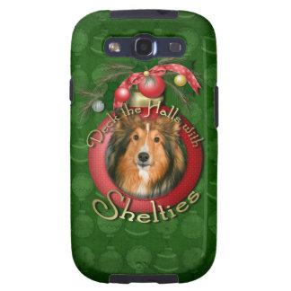 Navidad - cubierta los pasillos - Shelties Samsung Galaxy S3 Cárcasa