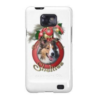 Navidad - cubierta los pasillos - Shelties Galaxy S2 Carcasas