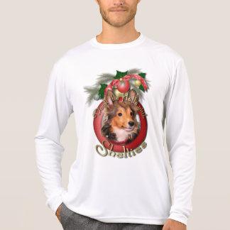 Navidad - cubierta los pasillos - Shelties - tonel Camisetas