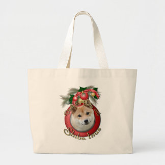 Navidad - cubierta los pasillos - Shiba Inu Bolsa