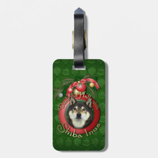 Navidad - cubierta los pasillos - Shiba Inu - Yash Etiquetas Bolsa
