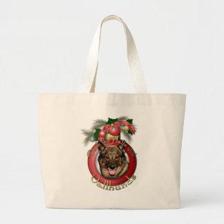 Navidad - cubierta los pasillos - Vallhunds Bolsa De Mano
