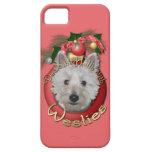 Navidad - cubierta los pasillos - Westies - el tan iPhone 5 Protectores