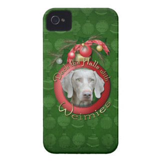 Navidad - cubierta los pasillos - Wiemies iPhone 4 Case-Mate Protectores
