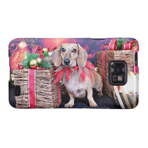 Navidad - Dachshund - Chloe Samsung Galaxy S2 Carcasa