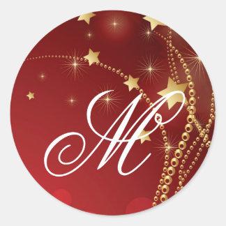 Navidad de 20 - 1,5 del sobre del sello navidad pegatina redonda