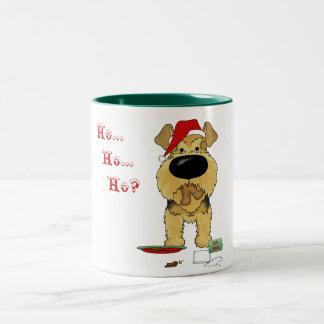Navidad de Airedale Terrier Taza De Café