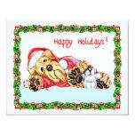 Navidad de Airedale Terrier que espera Santa Invitacion Personalizada