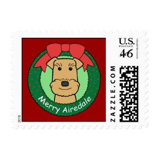 Navidad de Airedale Terrier