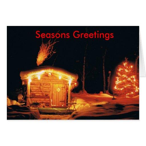 Navidad de Alaska de la cabina Tarjeta De Felicitación