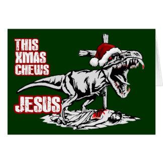 Navidad de Athiest T Rex Felicitacion