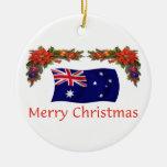Navidad de Australia Adorno Redondo De Cerámica