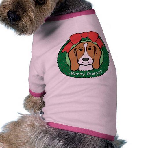 Navidad de Basset Hound Prenda Mascota