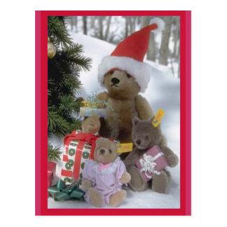 Navidad de Bearly Tarjeta Postal