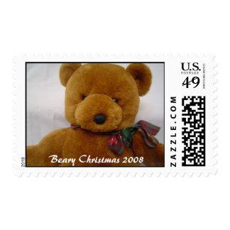 Navidad de Beary Timbres Postales